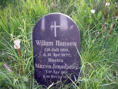 Willum Hansens gravsten